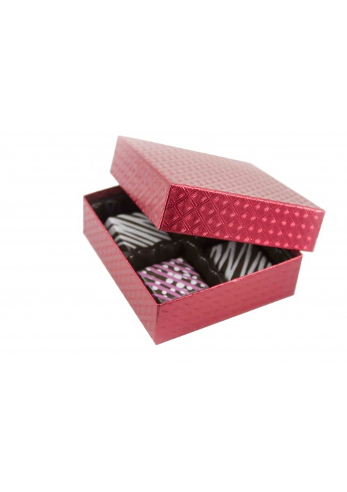 804-2023 - 1/8 lb. Solid Lid Candy Box - Red Diamond