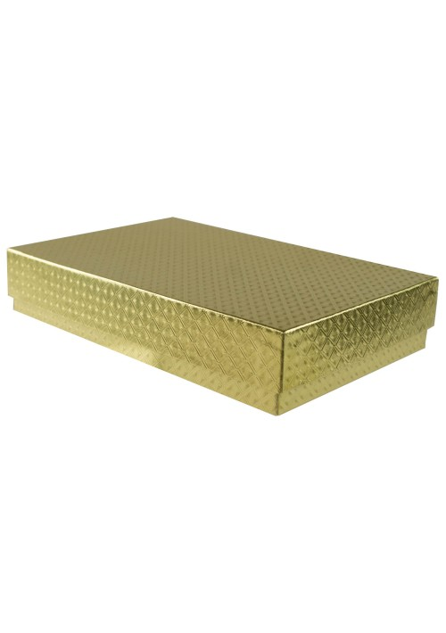 815D-2007 - 1/2 lb. Solid Lid Candy Box (TALL) - Gold Diamond