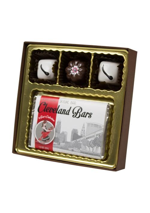 V213T-2057 - Logo Bar Vinyl Lid Candy Box - Cocoa Setup