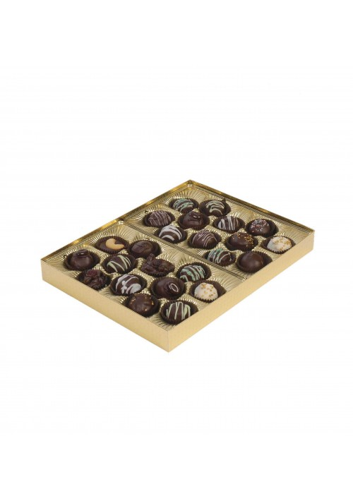 830S - 1 lb. Solid Lid Candy Box - Assorted Colors - 50 per Case