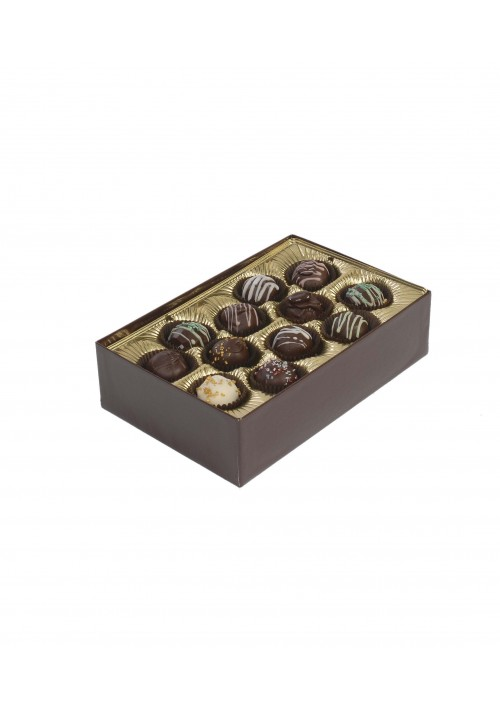 8152-2002/2007 - 1 lb. Double Layer Solid Lid Gold Candy Box - 50 per Case