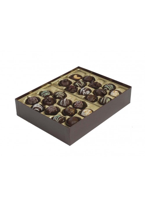 8302 - 2 lb. Double Layer Solid Lid Candy Box - Assorted Colors - 20 per Case