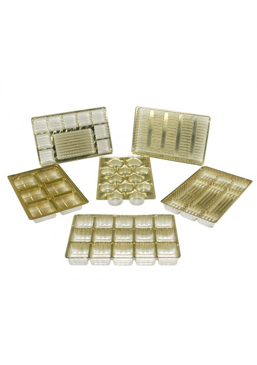 Tray Assortment - 100 Gold Candy Trays