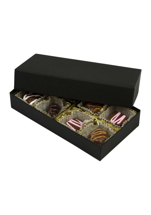808-2045 - 1/4 lb. Solid Lid Candy Box - Black Onyx
