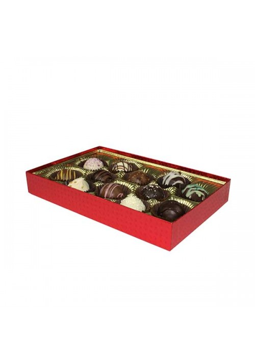 815S-2023 - 1/2 lb. Solid Lid Candy Box - Red Diamond