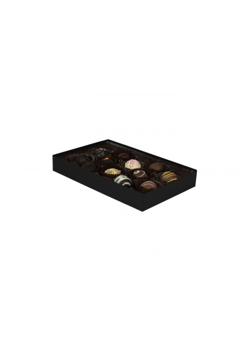 815S-2045 - 1/2 lb. Solid Lid Candy Box - Black Onyx