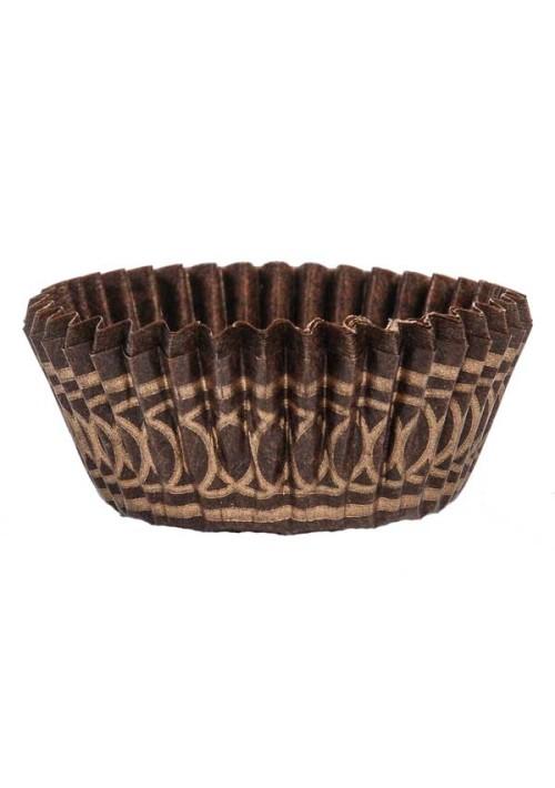 1-1/4 Brown/Gold Design Paper Cup - 1000 per Case
