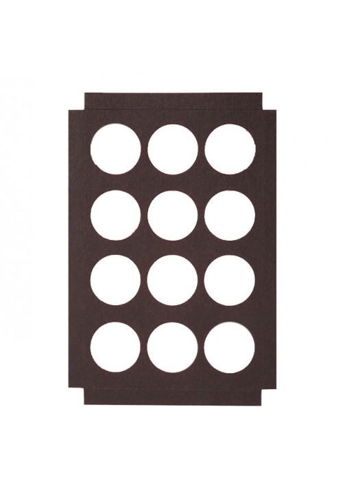 12 Round Cavity - Die Cut Paperboard Platform - 200 per Case