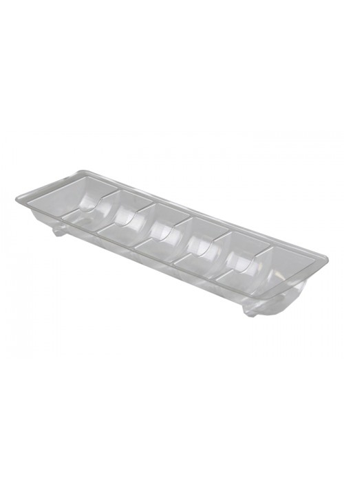 TR8006 Series - 6 Cavity Macaron Tray | 100 or 500 Case Pack | Clear