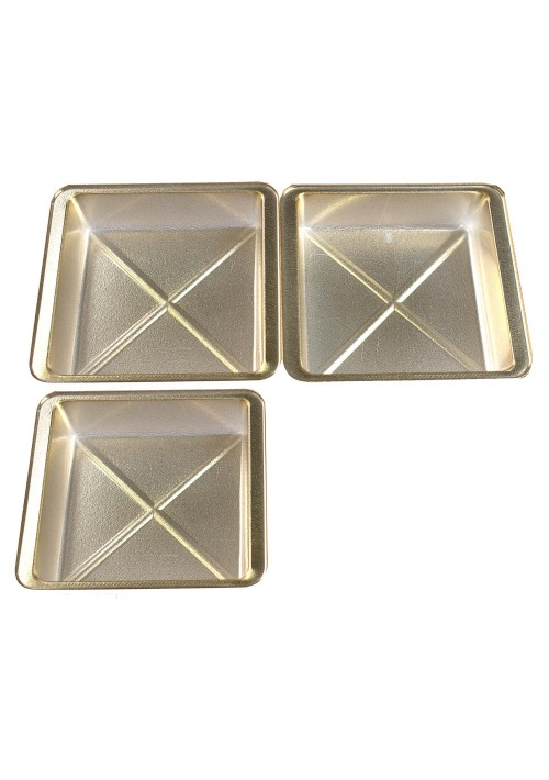 1 or 2 Cavity Tray - Gold - 100ct