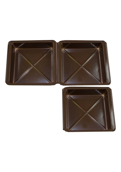 TR8012 Series - 1 or 2 Cavity Tray | 100 or 500 Case Pack | Gold or Brown