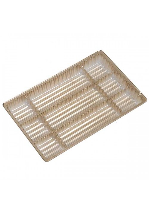 TR8063 Series - 3 Long Cavity Tray | 100 or 500 Case Pack | Gold or Brown