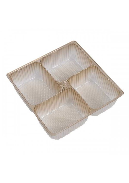 TR8804 Series - 4 Cavity Pretzel Tray | 100 or 500 Case Pack