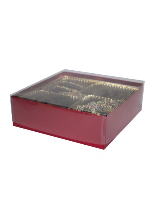 V207 - Clear Lid Candy Box - 30 per Case - Red Diamond