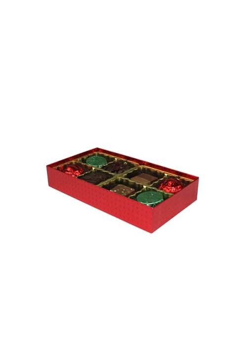 V208-2023 - 1/4 lb. Vinyl Lid Candy Box - Red Diamond
