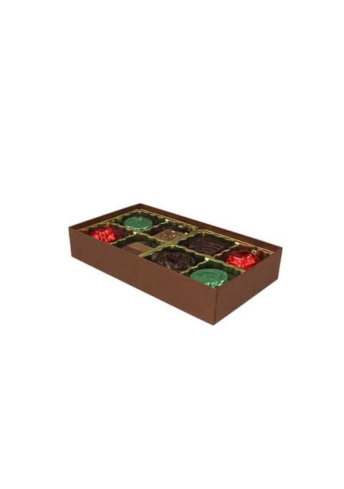 V208-2057 - 1/4 lb. Vinyl Lid Candy Box - Cocoa