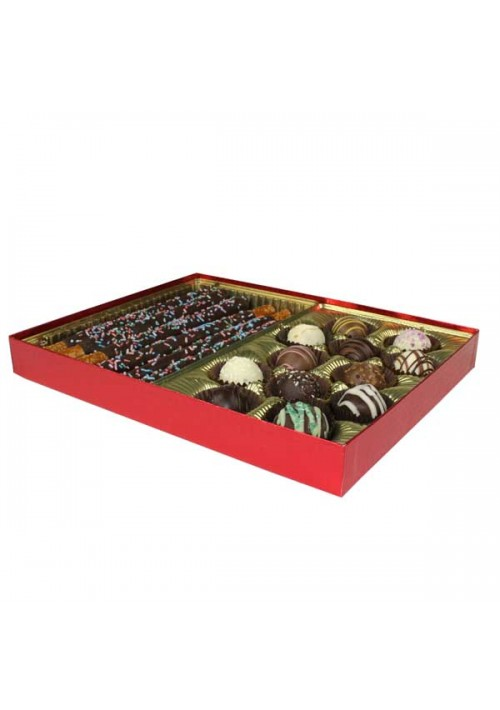 V230-2023 - 1 lb. Vinyl Lid Candy Box - Red Diamond
