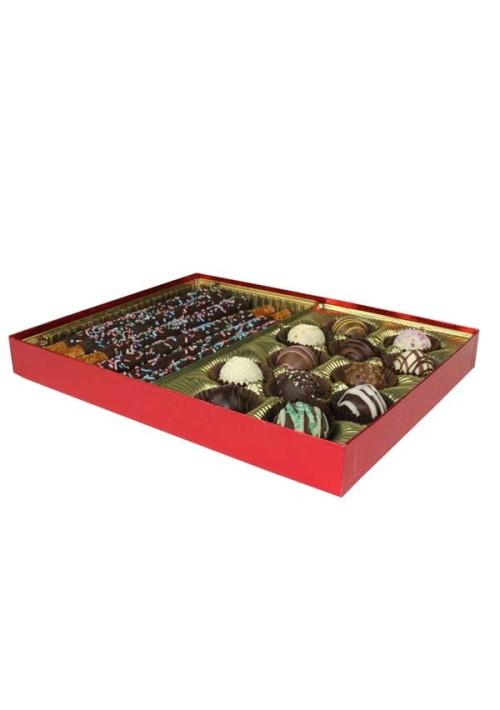 V230-2023 - 1 lb. Vinyl Lid Candy Box - Red Diamond
